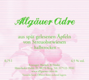 """Allgäuer Cidre """"halbtrocken"""""""
